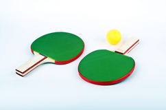 Table tennis on white. Ping pong objects on white Stock Images