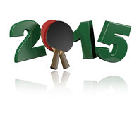 Table Tennis 2015. With a White Background Royalty Free Stock Photos