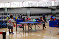 Table tennis World Dwarf Games 2017 royalty free stock images