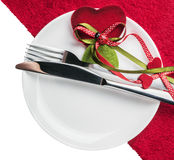 Table to celebrate Valentine's Day Royalty Free Stock Photography