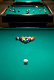 Table to start game in billiards Royalty Free Stock Image