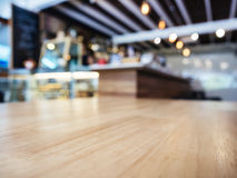 Table top Blur Bar Counter Restaurant Cafe background. Table top Blur Bar Counter Restaurant Cafe Interior background Royalty Free Stock Photography