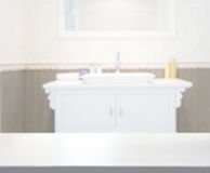 Table Top And Blur Bathroom Of Background Royalty Free Stock Photography