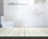 Table Top And Blur Bathroom Of Background. Table Top And Blur Bathroom Of The Background Stock Images