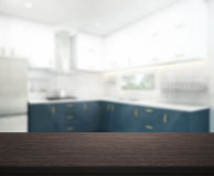 Table Top And Blur Interior Background Stock Images