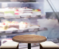Table Top And Blur Interior Background. Table Top And Blur Interior of Background Stock Image