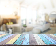 Table Top And Blur Interior Background stock photo