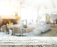 Table Top And Blur Interior Background Royalty Free Stock Images