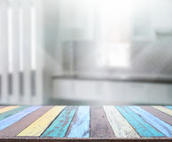 Table Top And Blur Interior Background. Table Top And Blur Interior of Background Royalty Free Stock Image