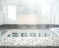 Table Top And Blur Interior Background. Table Top And Blur Interior of Background Royalty Free Stock Photography