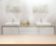 Table Top And Blur Interior Background royalty free stock image