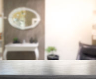 Table Top And Blur Interior Background Royalty Free Stock Photography