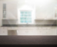Table Top And Blur Interior Background. Table Top And Blur Interior of Background Royalty Free Stock Images