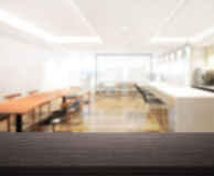 Table Top And Blur Interior of Background. Table Top And Blur Interior of The Background Royalty Free Stock Photos