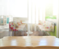 Table Top And Blur Interior of Background. Table Top And Blur Interior of The Background Stock Images