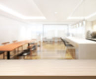 Table Top And Blur Interior of Background. Table Top And Blur Interior of The Background Royalty Free Stock Images