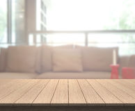 Table Top And Blur Living Room Of Background Stock Photography