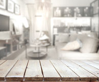 Table Top And Blur Living Room Of The Background Royalty Free Stock Image