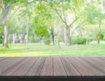 Table Top And Blur Nature Of Background Stock Photography