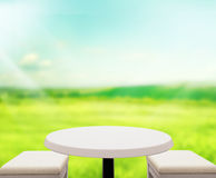 Table Top And Blur Nature Background Royalty Free Stock Images