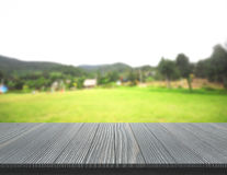 Table Top And Blur Nature Of Background. Table Top And Blur Nature Of The Background Stock Photography