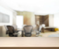 Table Top And Blur Office Background Stock Photo