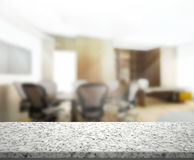 Table Top And Blur Office Background Royalty Free Stock Photo