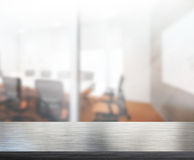 Table Top And Blur Office of Background Royalty Free Stock Photo