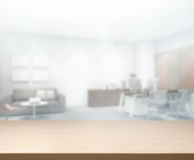 Table Top And Blur Office of Background Royalty Free Stock Photography