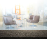 Table Top And Blur Office of Background Stock Image