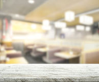 Table Top And Blur Restaurant Of Background. Table Top And Blur Restaurant Of The Background royalty free stock images
