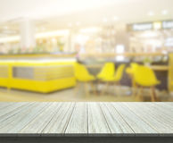 Table Top And Blur Restaurant Of Background. Table Top And Blur Restaurant Of The Background royalty free stock photography