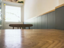 Table top with blurred bar cafe restaurant seating Stock Photos