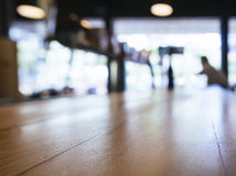 Table top counter Bar Blurred Restaurant background with people Royalty Free Stock Photos