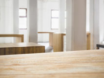 Table top counter bar with Interior Loft space background Stock Photography