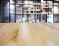 Table top counter Bar Restaurant Interior blurred background Royalty Free Stock Image