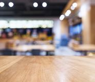 Table top counter Blur Bar restaurant background Royalty Free Stock Photo