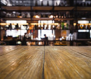 Table top counter Blurred People Bar Shelf Restaurant. Table top counter Blurred People Bar Shelf Cafe Restaurant wine Drink Royalty Free Stock Photo