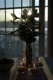 Table top decorations. With candles Stock Images