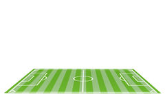 Table Top FootBall Pitch on a white Royalty Free Stock Photos
