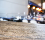 Table Top with Interior Bar Restaurant Cafe Stock Photography