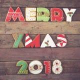 Merry Xmas 2018 Stock Photography