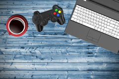 Table top view of a gamer Royalty Free Stock Images