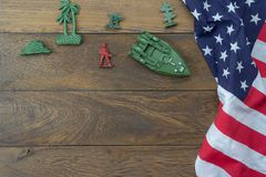 Table top view 4 th July independence day holiday background concept. stock photo
