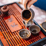 Table For Traditional Tea Ceremony Utensils Stock Photos