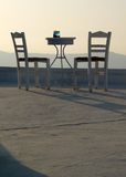 Table and two chairs Royalty Free Stock Photography