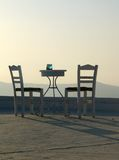 Table and two chairs Royalty Free Stock Image