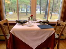 A Table for Two in New England stock photo