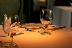 Table for Two Royalty Free Stock Photos