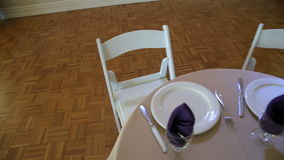 Table for Two. Sample of table setting for the bride and groom stock video footage